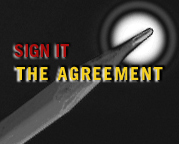 Sign It. The agreement.